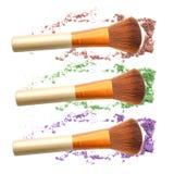 Eye shadow crushed set and blush make up. Eye shadow crushed set and blush make up royalty free stock images