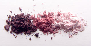 Eye shadow crushed on white royalty free stock photo