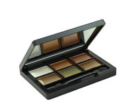 Eye shadow kit on a white Stock Images