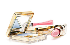 Eye shadow, lipstick ang lip gloss Royalty Free Stock Image
