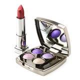 Eye shadow and lipstick Stock Images