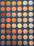 Eye Shadow Make Up Palette. Colorful Eye Shadow Make Up Palette With Brush Stock Photo