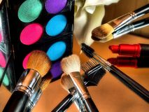 Eye Shadow Makeup Palette Royalty Free Stock Photo
