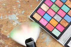 Eye shadow makeup palette Stock Photography