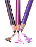 Eye shadow makeup pencil with stroke sample Royalty Free Stock Photo