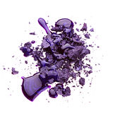 Eye shadow with nail polish Royalty Free Stock Photos