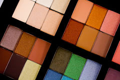 Eye Shadow Palette. Multiple colors of eye shadows Royalty Free Stock Photo