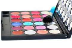 Eye shadow palette isolated royalty free stock photo