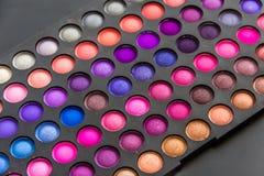 Eye Shadow Palette. Makeup palette of colors. Eye shadows makeup palette Royalty Free Stock Photo