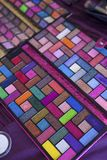 Eye shadow Pallet full of colors stock photography