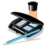 Of eye shadow, pencil and concealer Royalty Free Stock Photography
