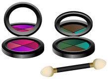 Eye Shadow Set Stock Photos