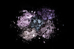 Eye Shadow Sets on Black Background Royalty Free Stock Photo