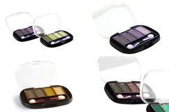 Eye shadow on white Royalty Free Stock Images