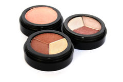 Eye shadows and blush stock images