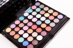 Eye shadows box Royalty Free Stock Photography