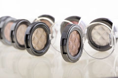 Eye shadows in box Royalty Free Stock Image
