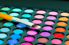 Eye shadows with brush Stock Images