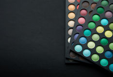 Eye shadows of different colors Stock Images