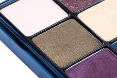Eye shadows with gloss close view Royalty Free Stock Photography