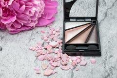 Eye shadows, makeup eye, concept cosmetics Royalty Free Stock Photo