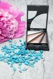Eye shadows, makeup eye, concept cosmetics Stock Photos