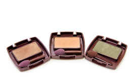 Eye shadows makeups in autumn colors. Makeups eye shadows in autumn colors. Isolated over white Stock Image