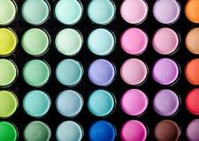 Eye shadows palette background Stock Image