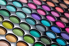 Eye shadows palette background Royalty Free Stock Photos