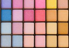 Eye shadows palette Stock Photo