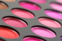 Eye shadows palette close-up Royalty Free Stock Photography