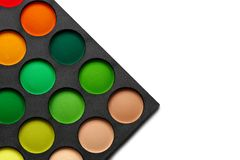 Eye shadows palette Stock Photo