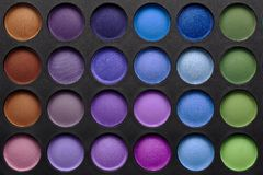 Eye shadows palette Royalty Free Stock Photography