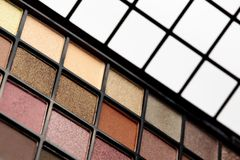 Eye shadows palette Royalty Free Stock Images