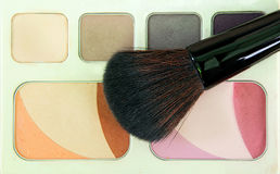 Eye shadows and rouge with brushes,Make up Stock Photo