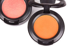 Eye shadows in round box Stock Images