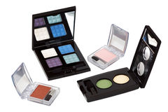 Eye shadows sets Stock Photos