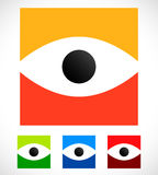 Eye shape over square - Eye icon, eye logo Royalty Free Stock Photo
