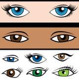 Eye Shape Set Stock Image