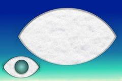 Eye shape vision icon background Stock Photos