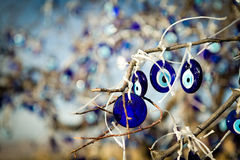Eye-shaped amulets to protect against the evil eye. Nazar - eye-shapeds amulet to protect against the evil eye Stock Photography