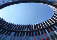 Eye shaped atrium of a modern office building Royalty Free Stock Photography
