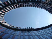 Eye shaped atrium of a modern office building Stock Photography