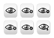 Eye sight buttons set -  Stock Image