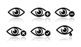 Eye sight icons set -  Royalty Free Stock Photo