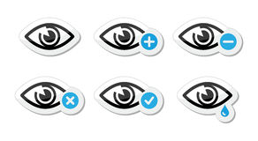 Eye sight icons set -  Royalty Free Stock Photography