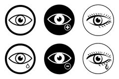 Eye sight. Icons set  eps 10 Stock Photo