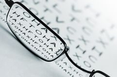 Eye Sight Test Royalty Free Stock Image