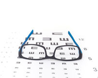 Eye sight test chart Stock Photo