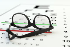 Eye sight test, ophthalmology diagnostic, healthcare and medicine concept Stock Image